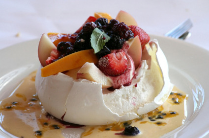 Fruit Salad Pavlovas