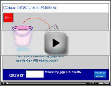 Comparing the volume of liquids tutorial