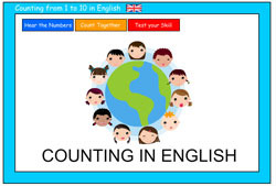 Counting to 10 in English