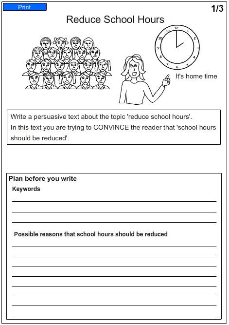 persuasive essays worksheets