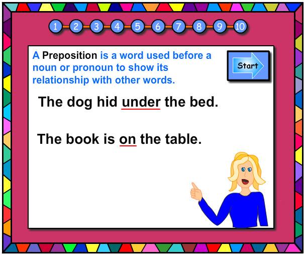 Prepositions Vocabulary Builder