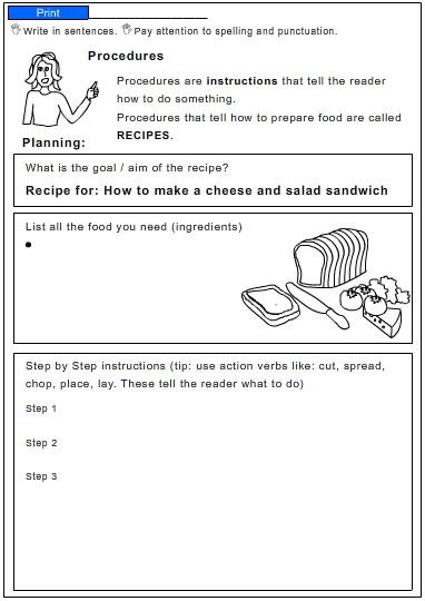 process essay on a recipe