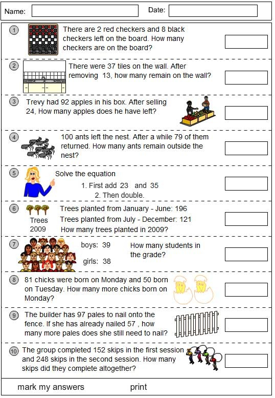 Problem solving using addition and subtraction
