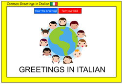 Common Greetings in Italian